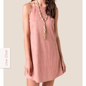 Dresses & Skirts - Faux Suede Scalloped Dress